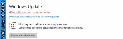 Desactivar Windows Update en Windows 10