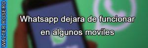 Whatsapp dejara de funciona