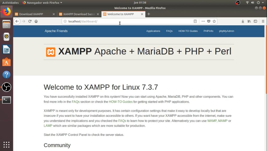 """Localhost funcionando con Xampp"""""""