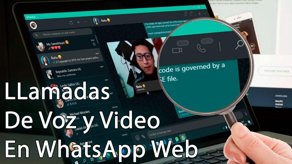 llamadas y videos en whatsapp